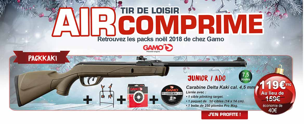 Pack Noël 2018 carabine à air comprimé Gamo® Junior