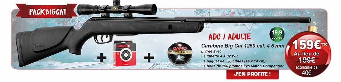 Pack Noël 2018 Gamo® Big Cat