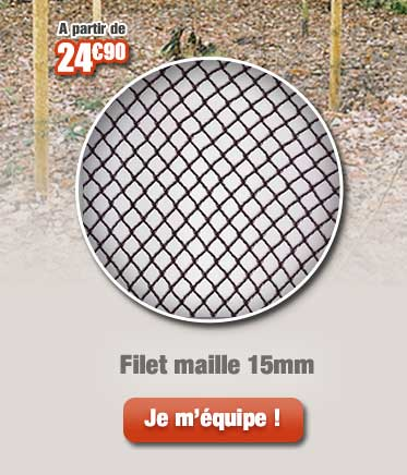 Filet maille 15mm