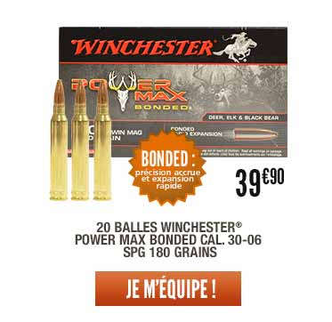 20 balles Winchester® Power Max Bonded cal. 30-06 Spg 180 grains