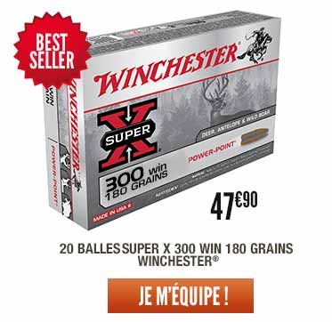 balles winchester super X 300 win 180grains