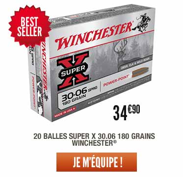 20 Balles Winchester super X 30.06 180 grains