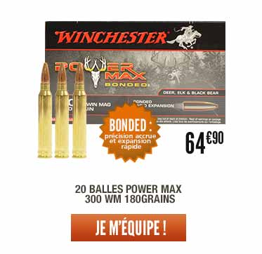 20 balles Power Max 300 WM 180grains