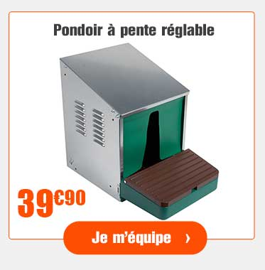 Pondoir automatique à pente ajustable