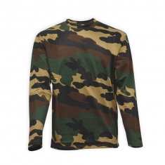 Tee Shirt Camouflage Manches Longues