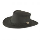 Chapeau en cuir noir