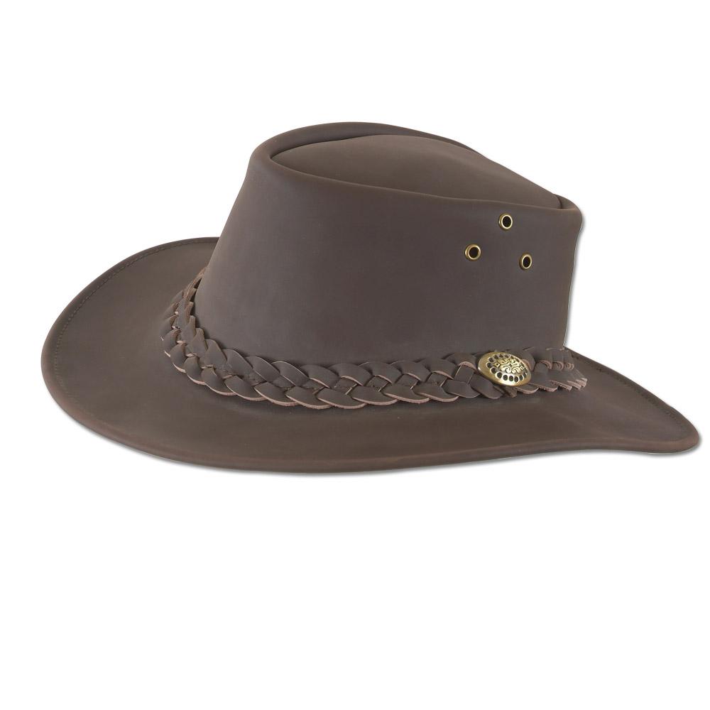 nouveau authentique meilleur site web meilleure qualité pour chapeau cuir marron taille 57
