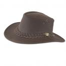 Chapeau de chasse en cuir marron