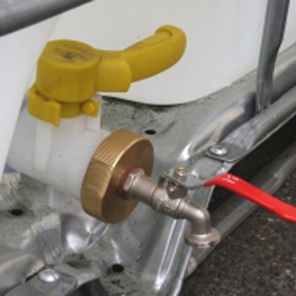 Ducatillon adaptateur de cuve 1000l jardin - Robinet pour recuperateur d eau 1000l ...