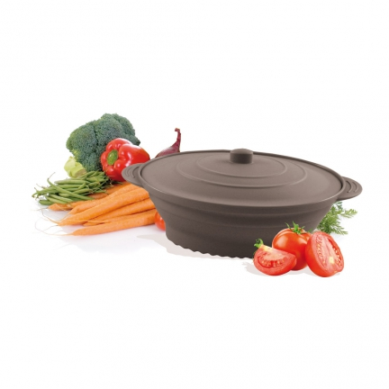 Papillote Ovale Retractable Moyenne Anthracite
