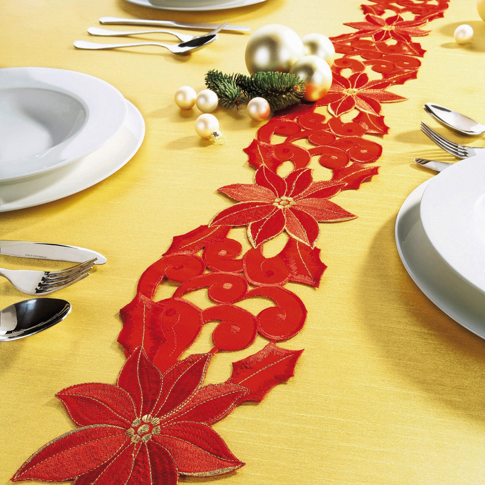 Ducatillon chemin de table etoile de no l cuisine - Chemin de table pour noel ...