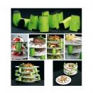 Espaceurs d'Assiettes Verts par 9