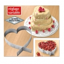 Cadre � Patisserie R�glable Forme Coeur