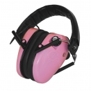 Casque rose E-max: protection et amplification auditive