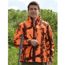 Blouson de chasse Softshell Ghost Camo Black and Blaze