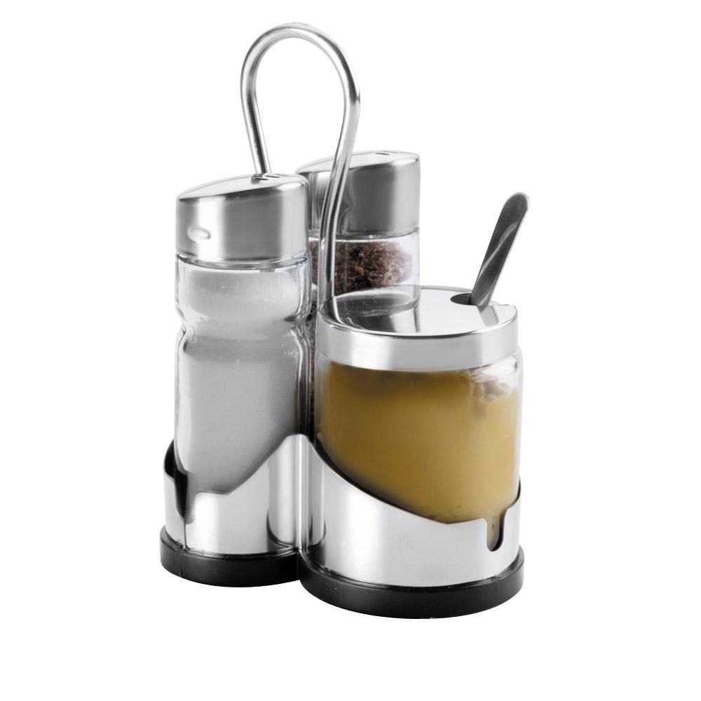 set 3 pi ces lacor sel poivre moutarde achat vente d 39 ustensiles de cuisine. Black Bedroom Furniture Sets. Home Design Ideas