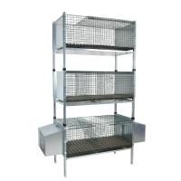 Kit complet 3 cages d'élevage lapin