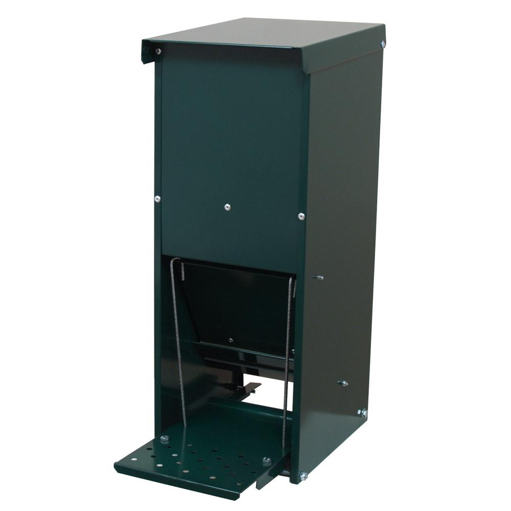 ducatillon mangeoire anti nuisible 15 ou 30 litres thermolaqu e vert elevage. Black Bedroom Furniture Sets. Home Design Ideas