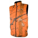 Gilet de traque r�versible orange/vert