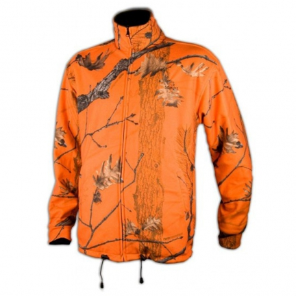 Veste polaire r�versible camo orange/vert L