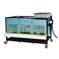 Base cage poussin 1 étage sur roues, hauteur intérieure 40cm
