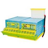 Cage d'engraissement caille ou perdrix 2 compartiments