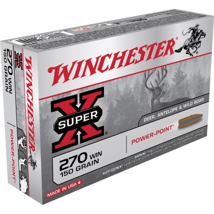 60 balles Winchester Power-Point 300 WSM 180G