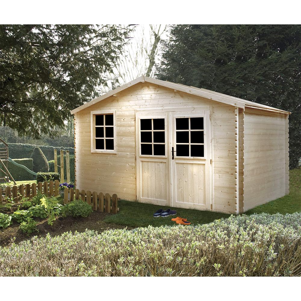 jardin ducatillon abri de jardin en bois brut medyne boutique de vente en ligne. Black Bedroom Furniture Sets. Home Design Ideas