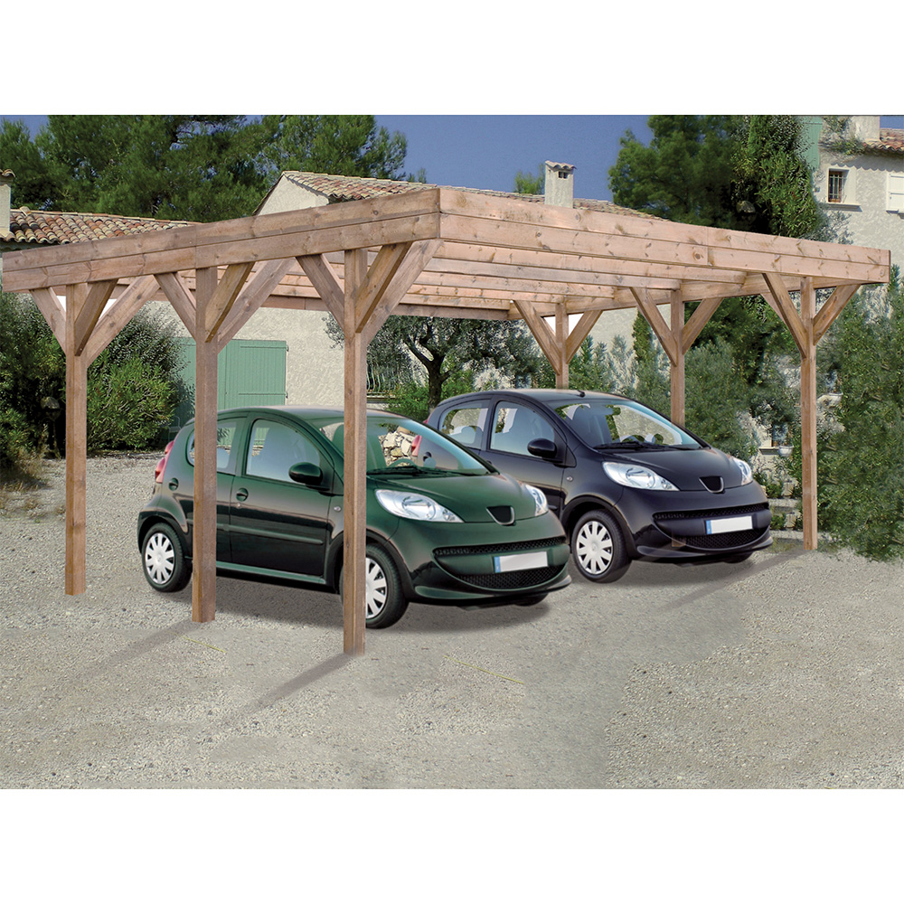 carport en bois de pologne. Black Bedroom Furniture Sets. Home Design Ideas