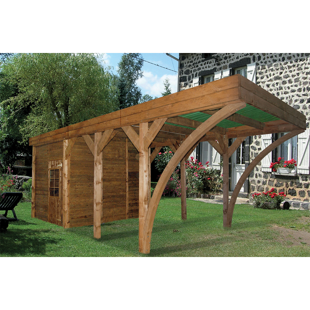 carport en bois 1 pente. Black Bedroom Furniture Sets. Home Design Ideas