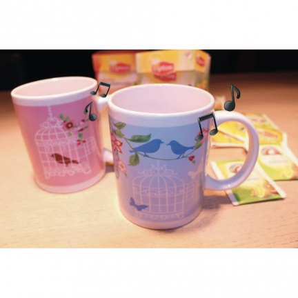 Lot de 2 Mugs Oiseaux  Musical