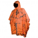 Poncho camo orange fire taille unique