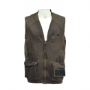 Gilet de chasse fa�on cuir ligne Chambord