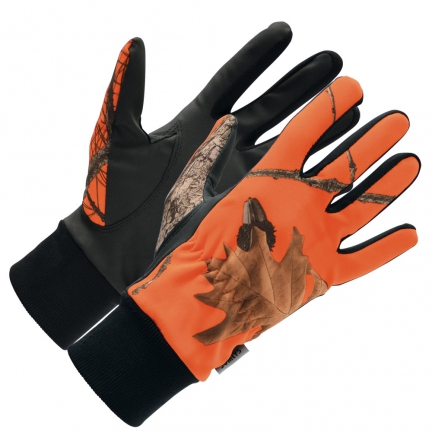 Gants Softshell camo orange M