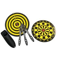 Set de 3 couteaux de lancer + cible