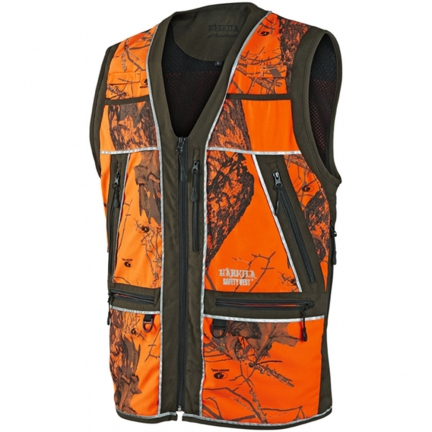 Gilet Safety orange camo S