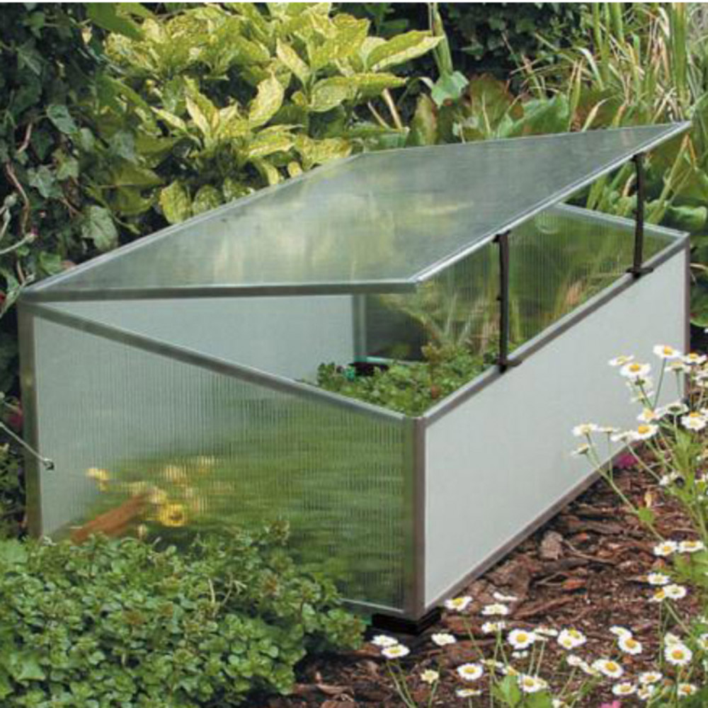Ducatillon serre ch ssis aluminium et polycarbonate jardin for Arceaux pour serre de jardin