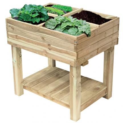 jardin en carr sur lev 80x60x80 cm jardin ducatillon. Black Bedroom Furniture Sets. Home Design Ideas