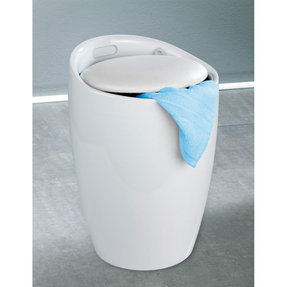 Tabouret salle de bain blanc for Ducatillon cuisine