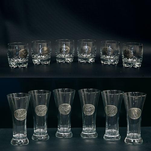 ducatillon les 6 verres whisky et 6 pastis decor etain. Black Bedroom Furniture Sets. Home Design Ideas