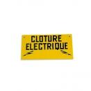 Plaque 'cloture électrique'
