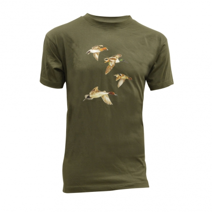 Tee-Shirt kaki Vol de canards Taille M