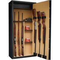 INFAC: 14 armes avec lunette + serrure électronique + coffre + étagères