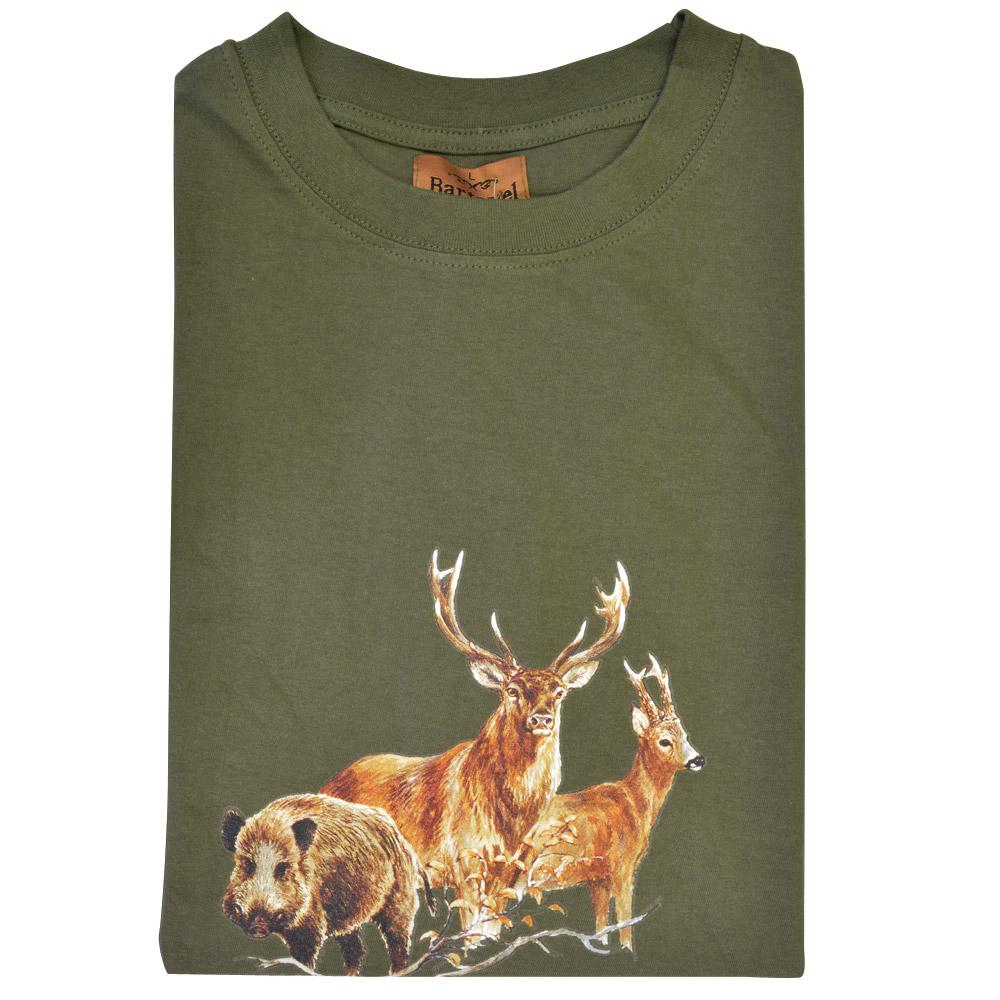 ducatillon tee shirt kaki grands animaux bartavel chasse. Black Bedroom Furniture Sets. Home Design Ideas