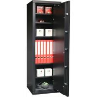 INFAC: 5 étagères renforcées amovibles + serrure électronique