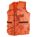 Gilet de traque anti-ronce camo orange fire + cartouchières