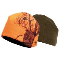 Bonnet Somlys® réversible camo orange/vert