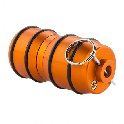 Réplique airsoft grenade impact à gaz orange