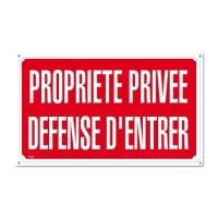 Panneau signalétique PROPRIETE PRIVEE DEFENSE D'ENTRER