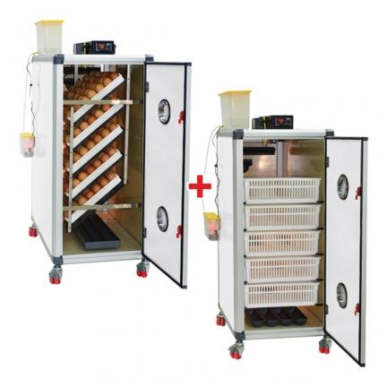 Couveuse automatique Cimuka HB500S + Eclosoir Cimuka HB175S